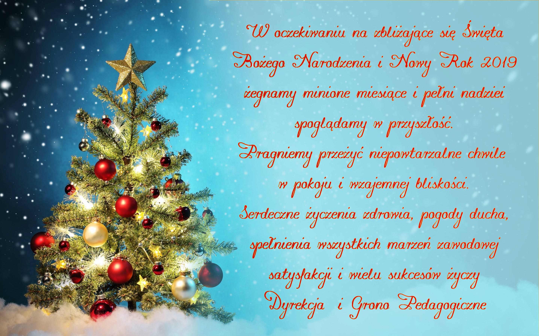 Boże Narodzenie 2018 Zespół Szkół Ponadgimnazjalnych Nr 4 Z